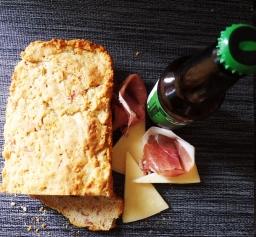 Prosciutto and asiago beer bread(gluten free)
