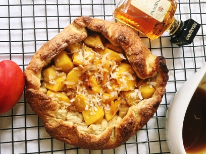 Nectarine and ginger galette