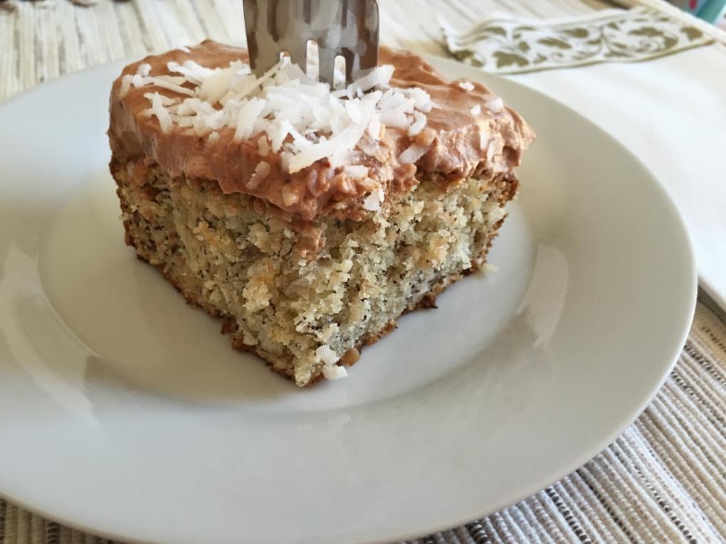 banana cake piece