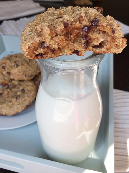 breakfast cookies and milk