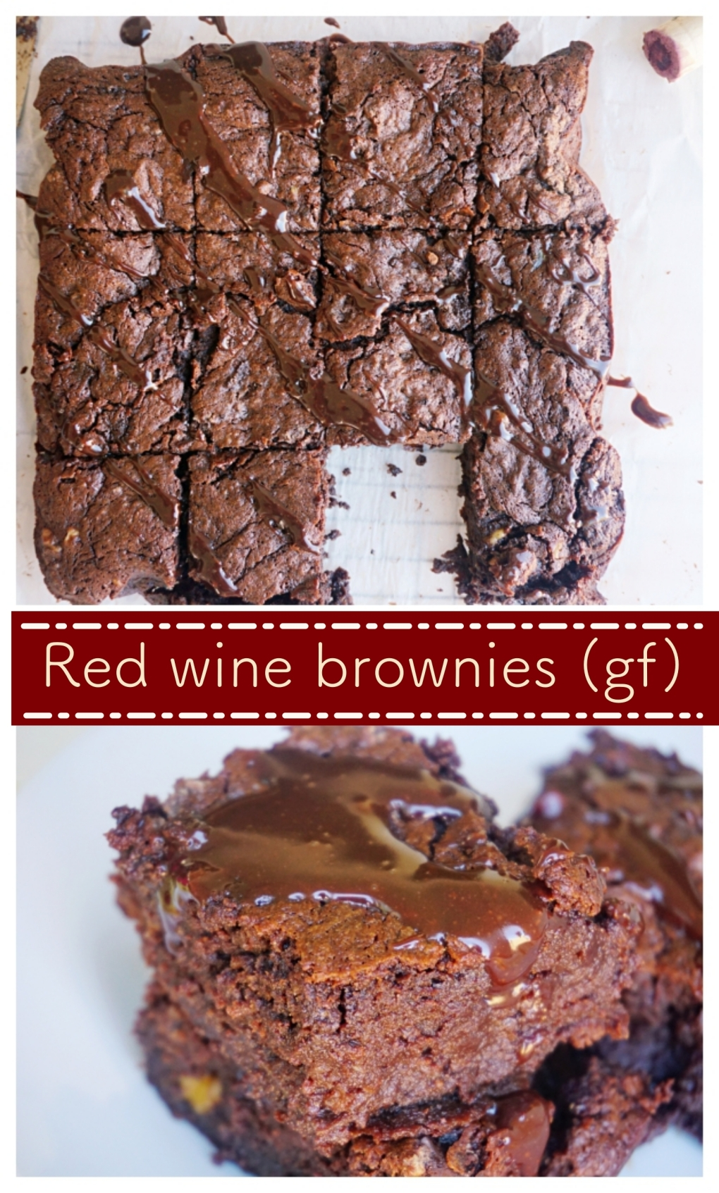 Gluten free fudge red wine brownies!So delicious!