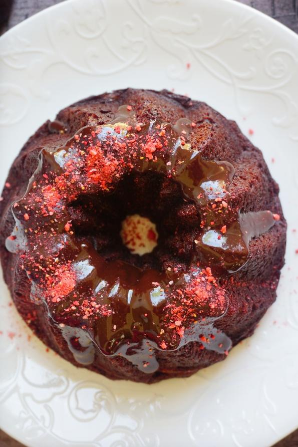 panoramic beet cake
