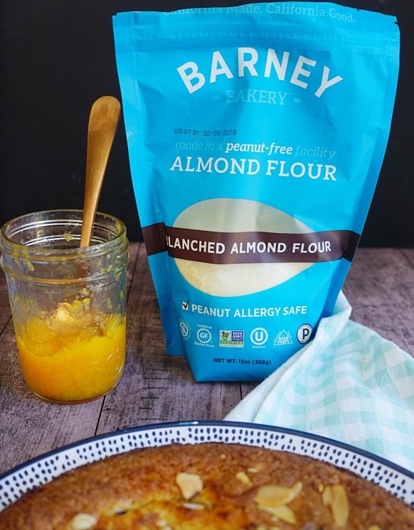 almond flour and peach 2