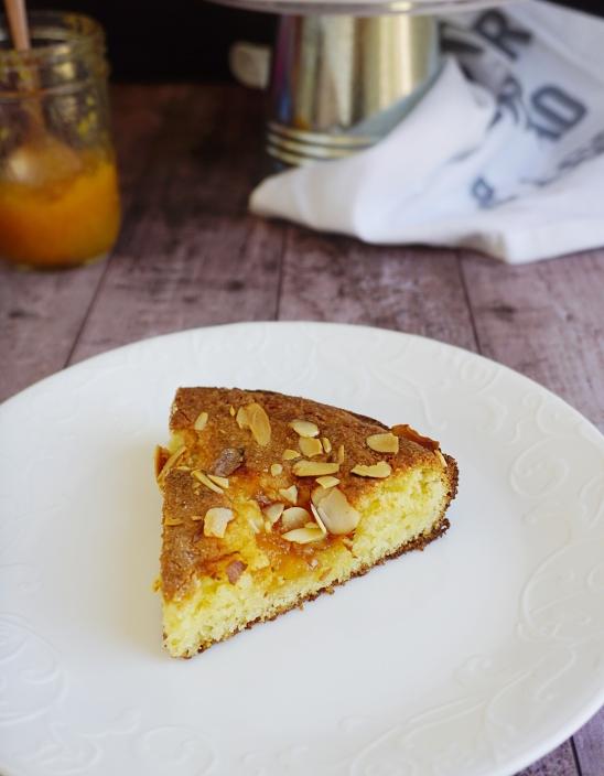 peach jam cake slice