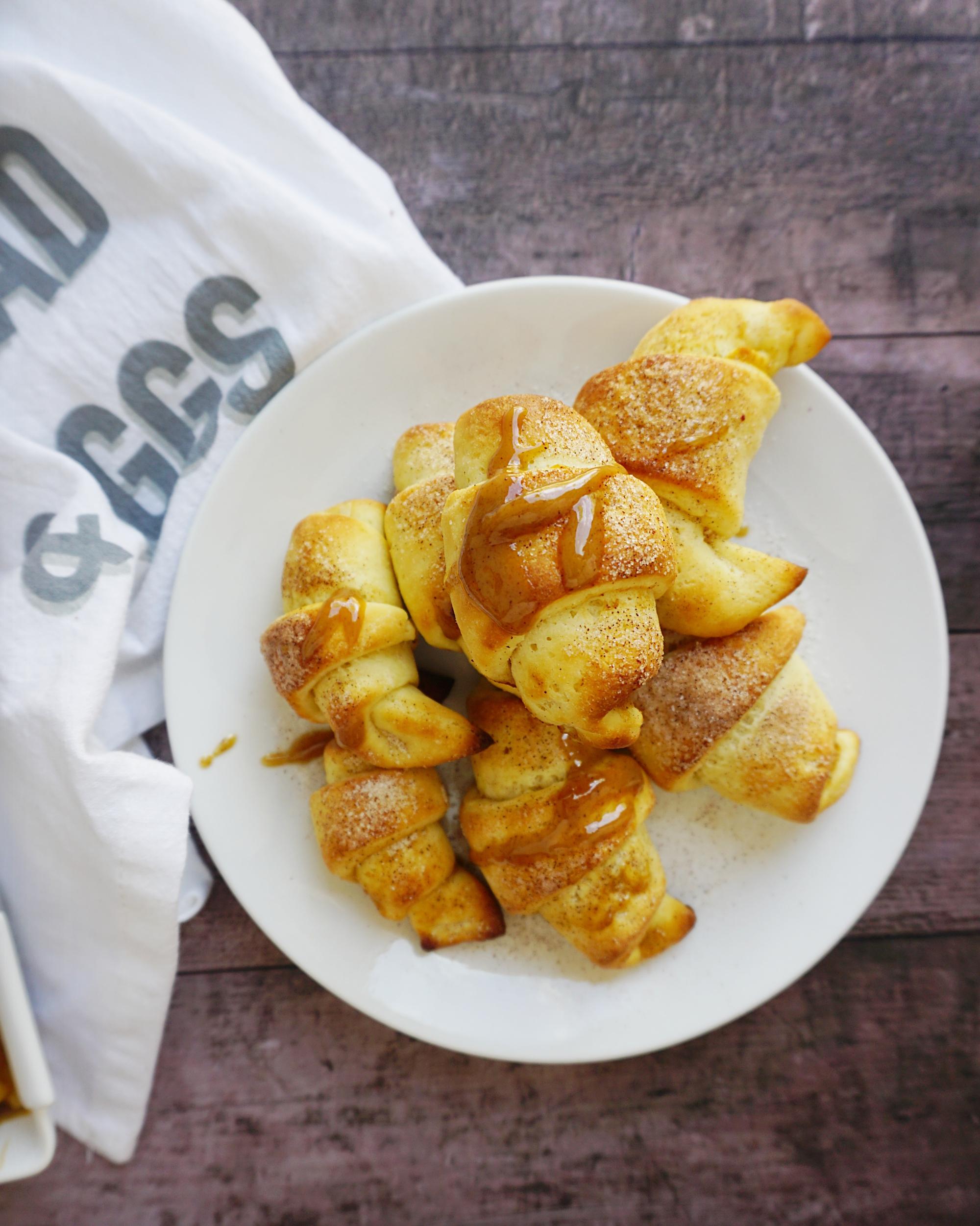 Gluten free apple pie crescents