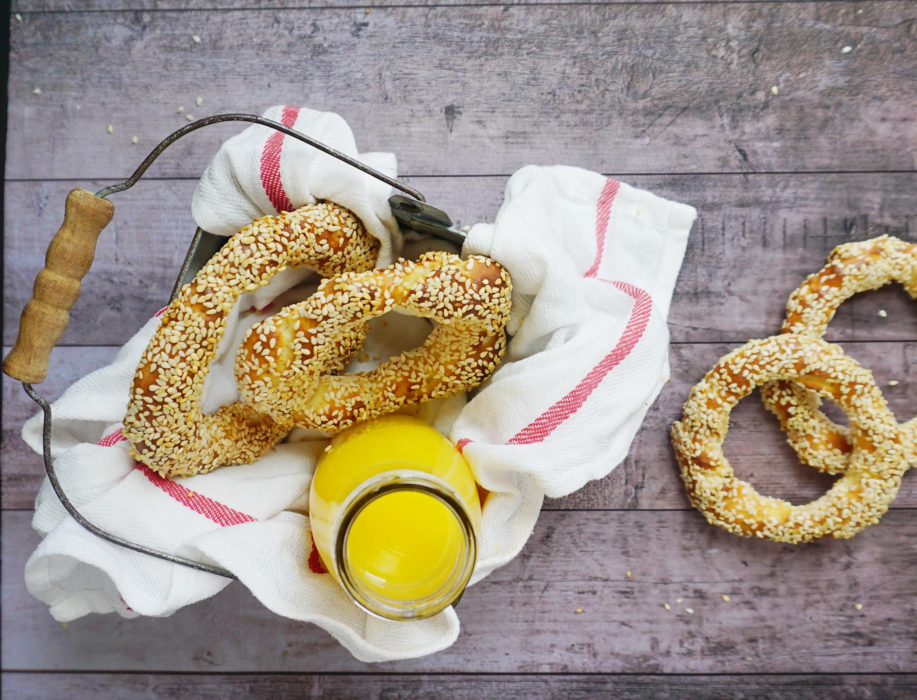 Gluten free Greek bagels