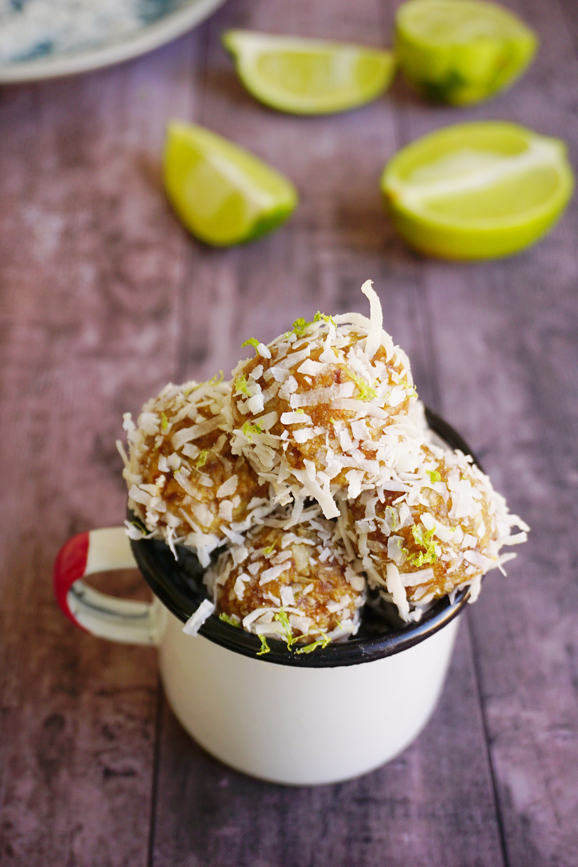 Lime coconut energy balls